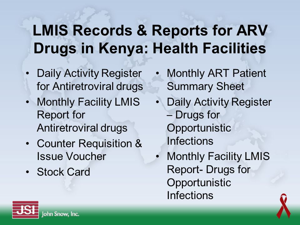 LMIS Records & Reports for ARV Drugs in Kenya: Health Facilities