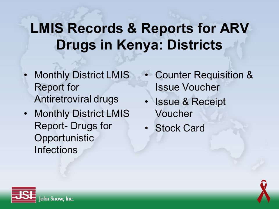 LMIS Records & Reports for ARV Drugs in Kenya: Districts