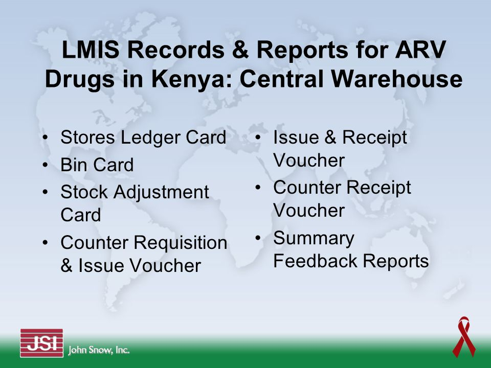 LMIS Records & Reports for ARV Drugs in Kenya: Central Warehouse