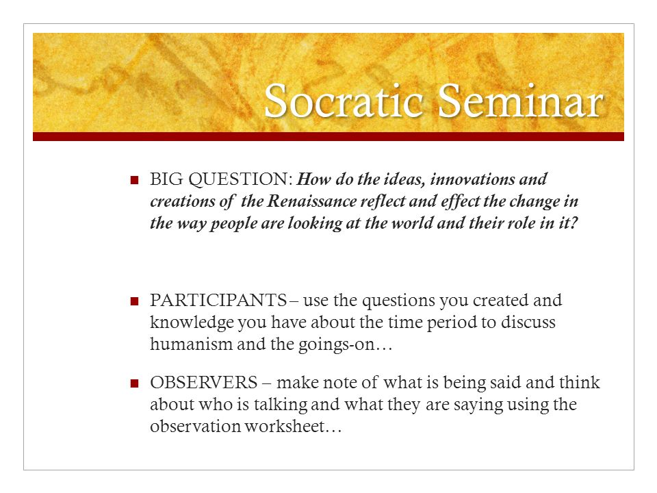 Unit 8 Renaissance and Reformation ppt video online download – Socratic Seminar Worksheet