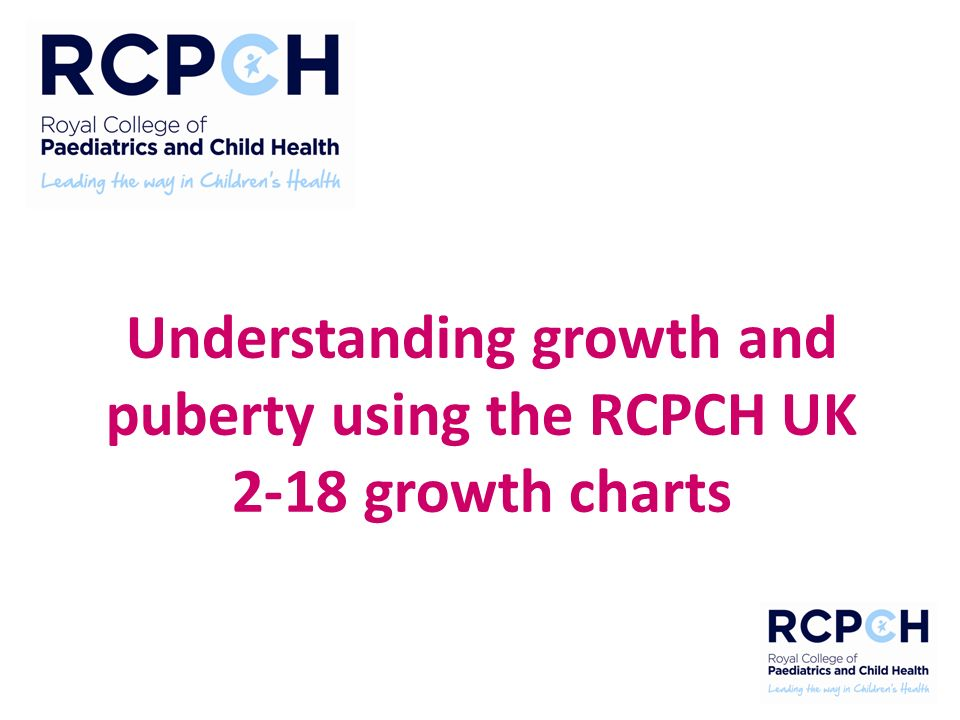 Understanding Growth And Puberty Using The Rcpch Uk 2 18 Growth