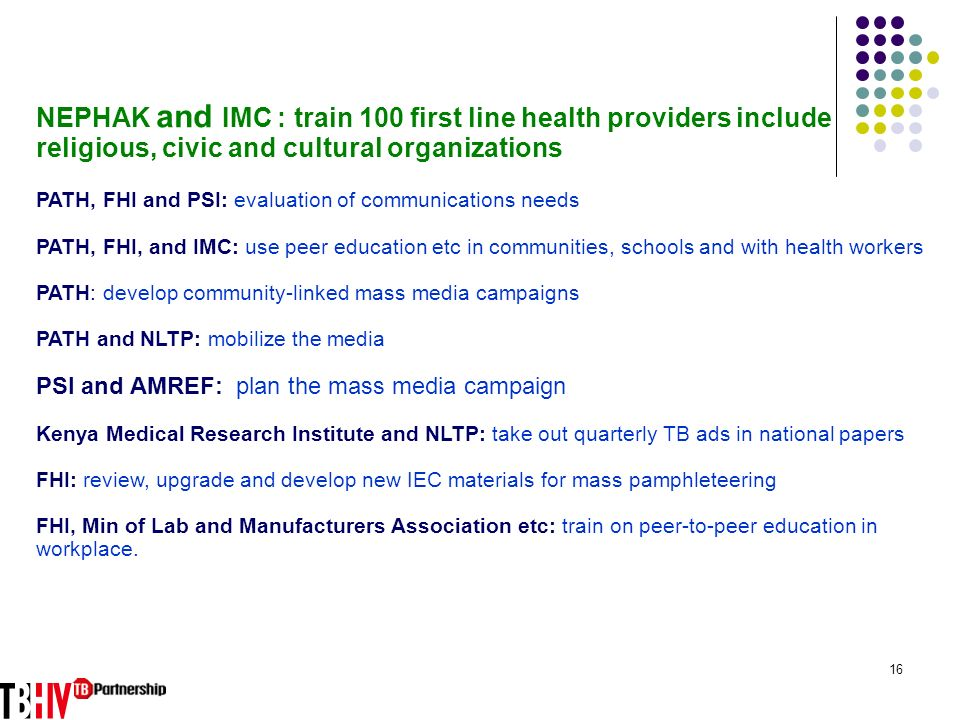 NEPHAK and IMC : train 100 first line health providers include religious, civic and cultural organizations