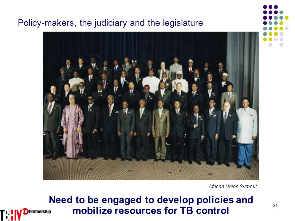 Policy-makers, the judiciary and the legislature