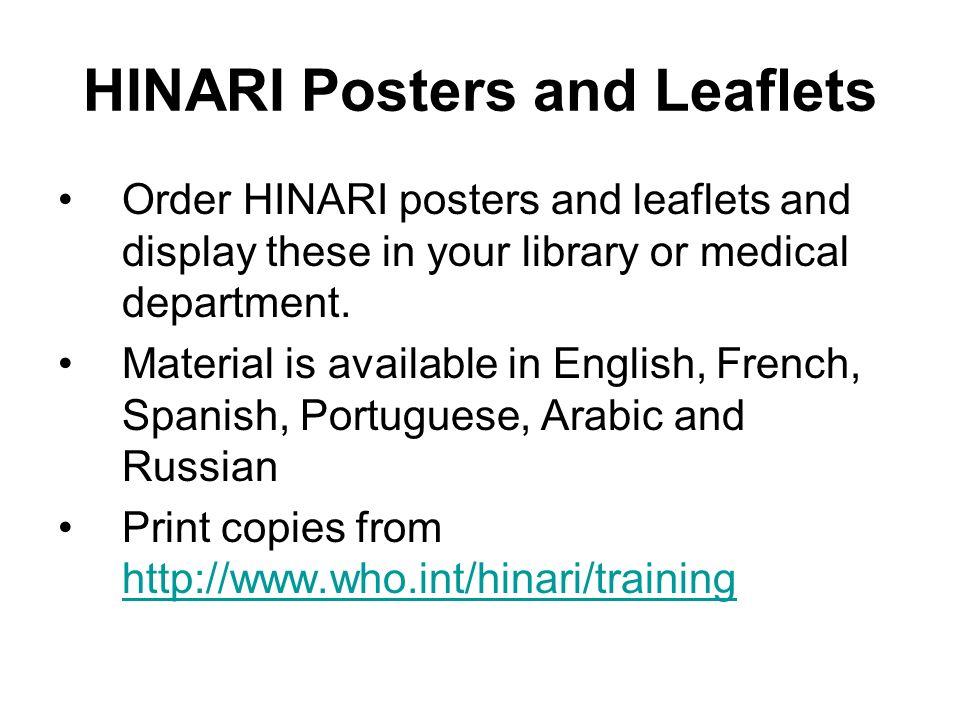 HINARI Posters and Leaflets