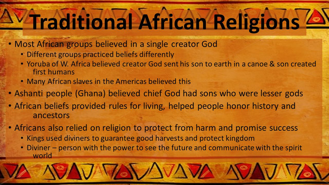 traditional african beliefs in john s mbitis book introduction to african religion Atr is intrinsically tied to african people's beliefs  orbis books, 2003 hinnells r john african traditional religion.