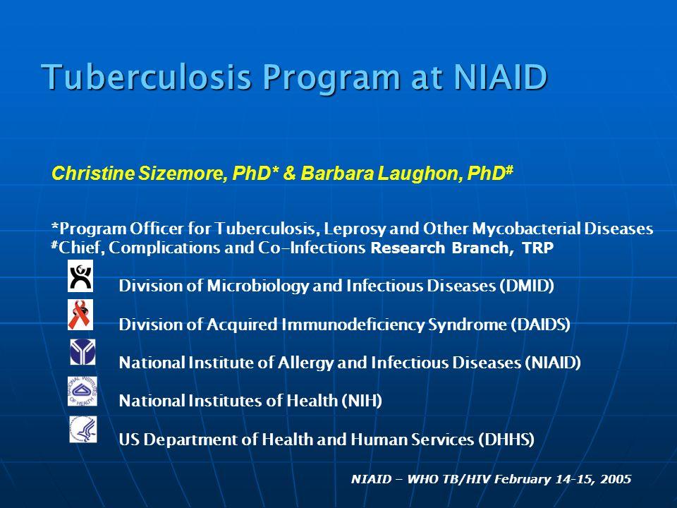 Tuberculosis Program at NIAID