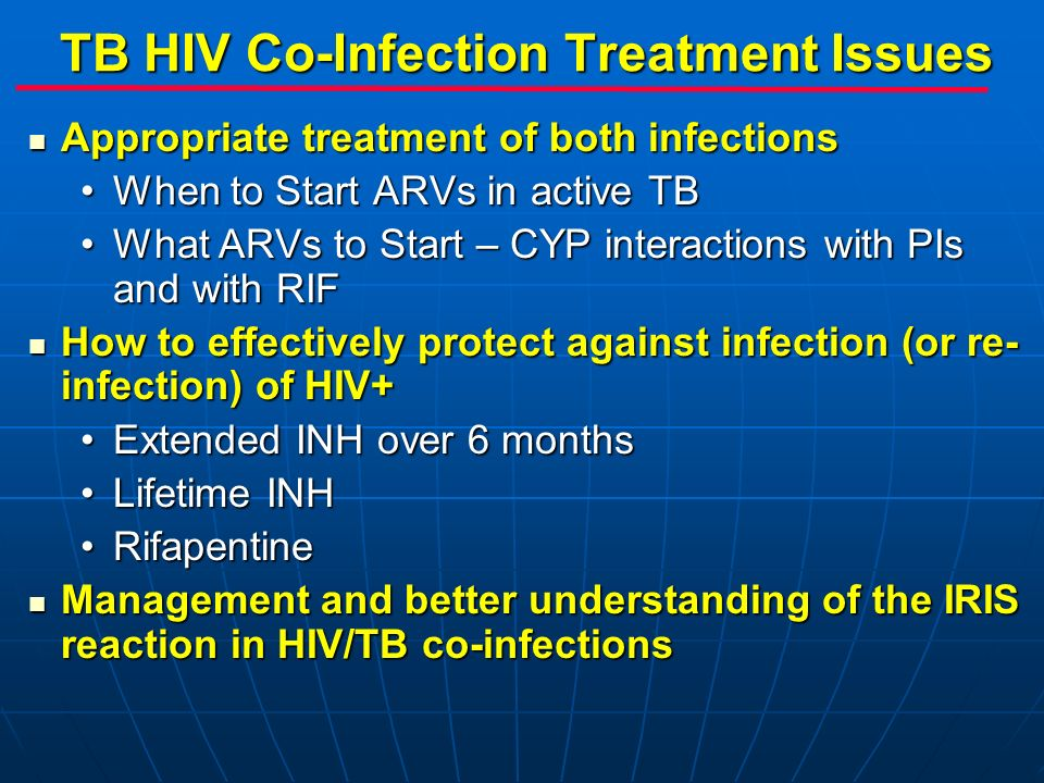 TB HIV Co-Infection Treatment Issues