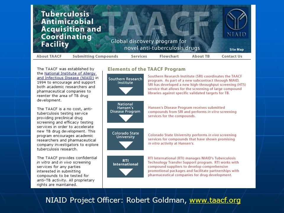 NIAID Project Officer: Robert Goldman, www.taacf.org