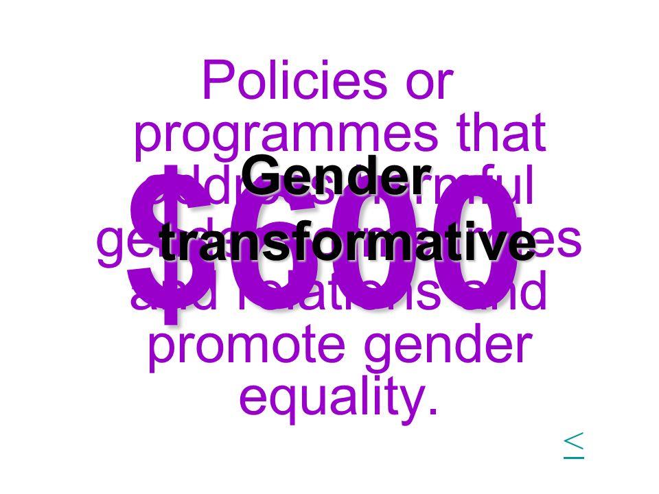Gender transformative