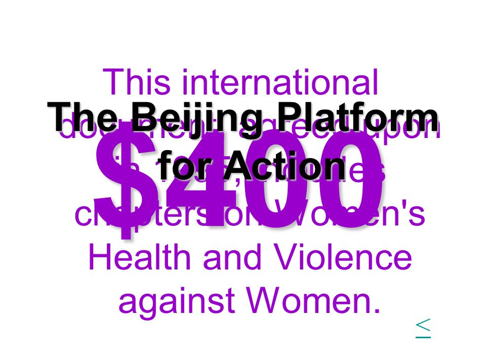 The Beijing Platform for Action