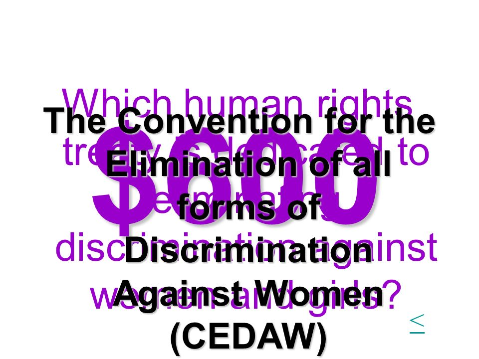 Which human rights treaty is dedicated to eliminating discrimination against women and girls