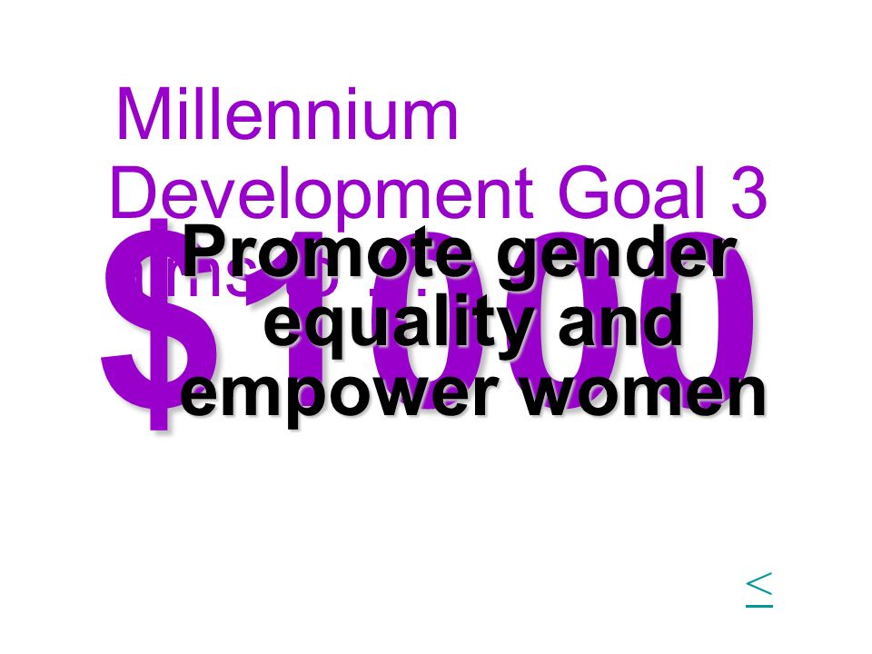 Promote gender equality and empower women
