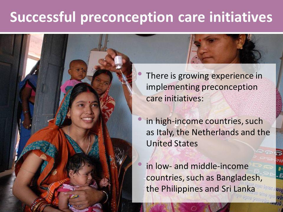 Successful preconception care initiatives
