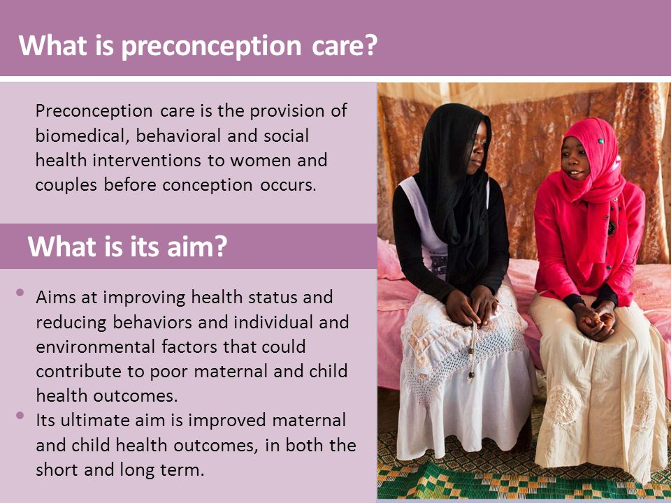 What is preconception care