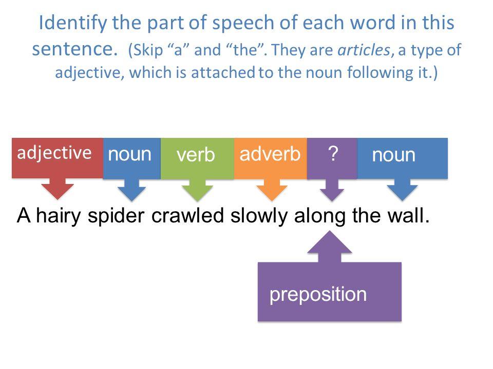 identify parts of speech in a sentence pdf