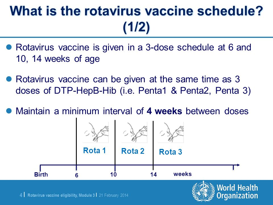 What is the rotavirus vaccine schedule (1/2)