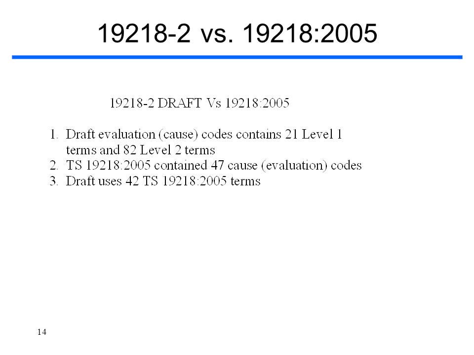 19218-2 vs. 19218:2005