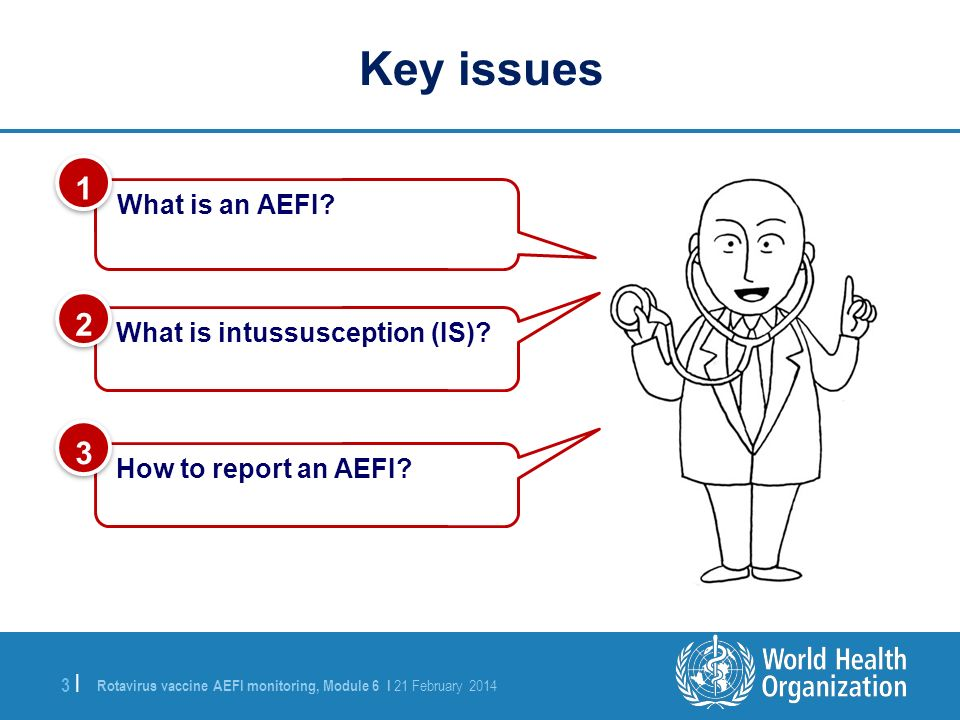 Key issues 1 2 3 What is an AEFI What is intussusception (IS)