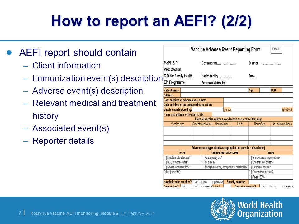 How to report an AEFI (2/2)