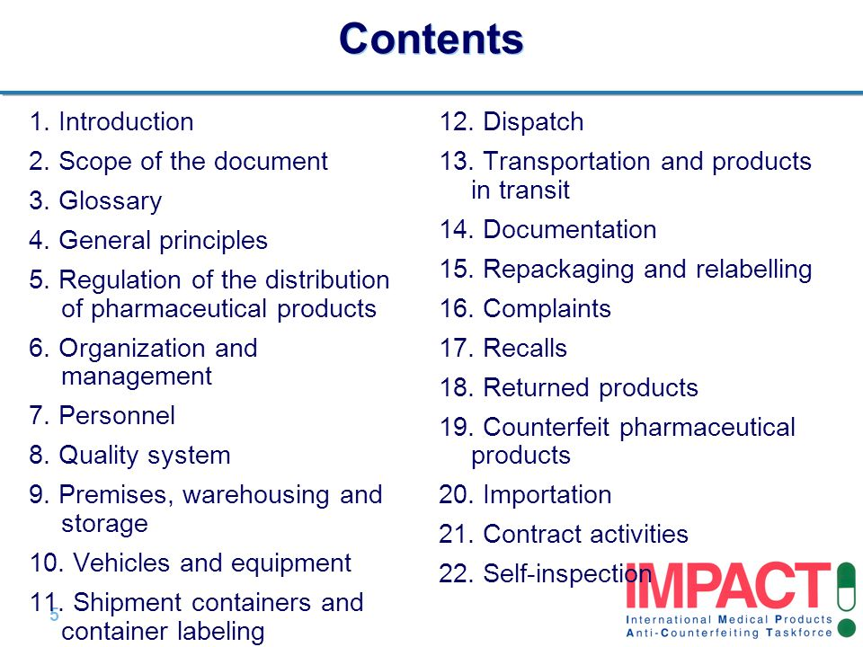 Contents 1. Introduction 2. Scope of the document 3. Glossary