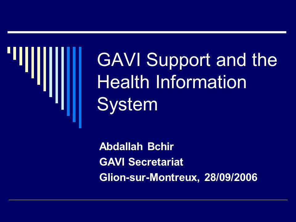 GAVI Support and the Health Information System