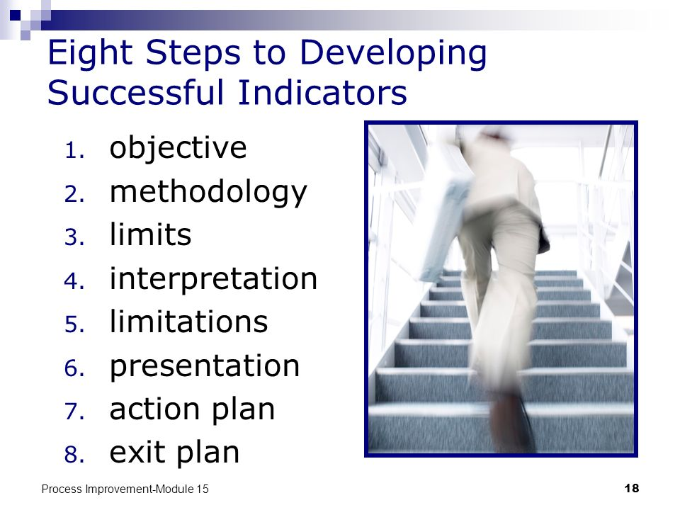 Eight Steps to Developing Successful Indicators