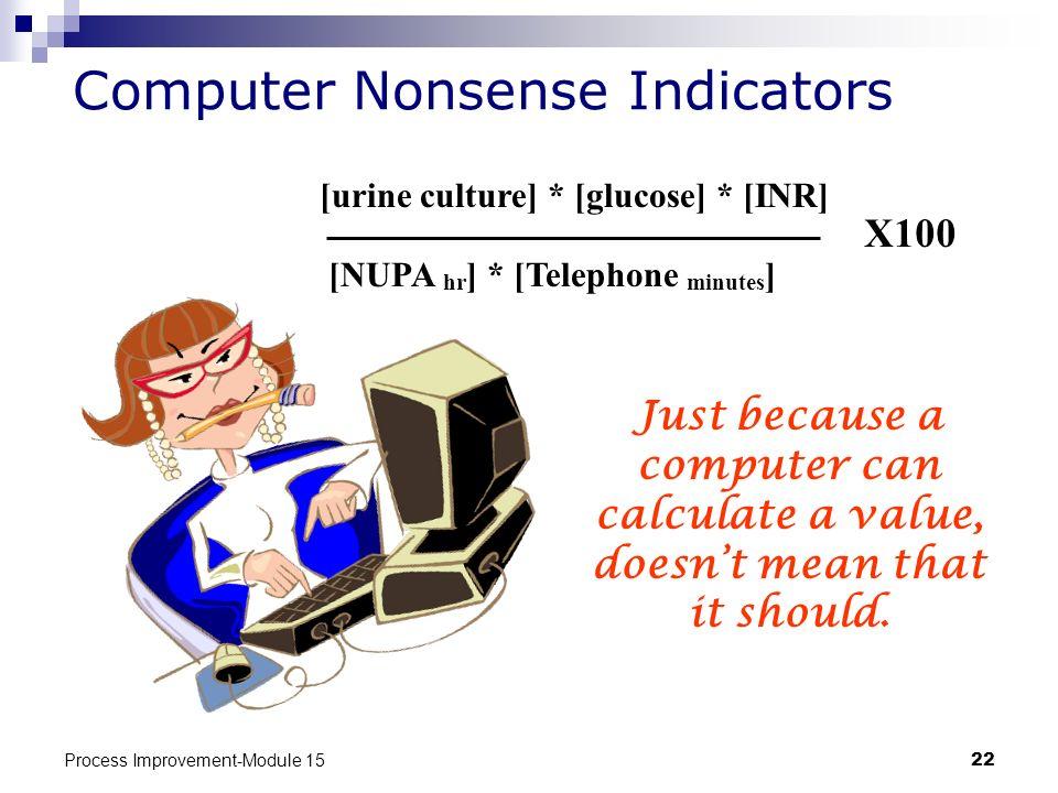 Computer Nonsense Indicators
