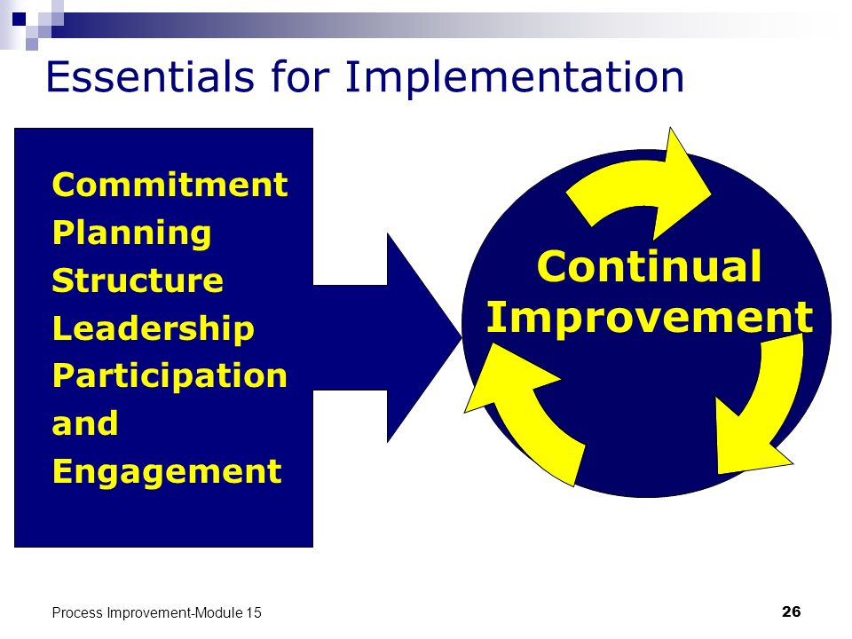 Essentials for Implementation