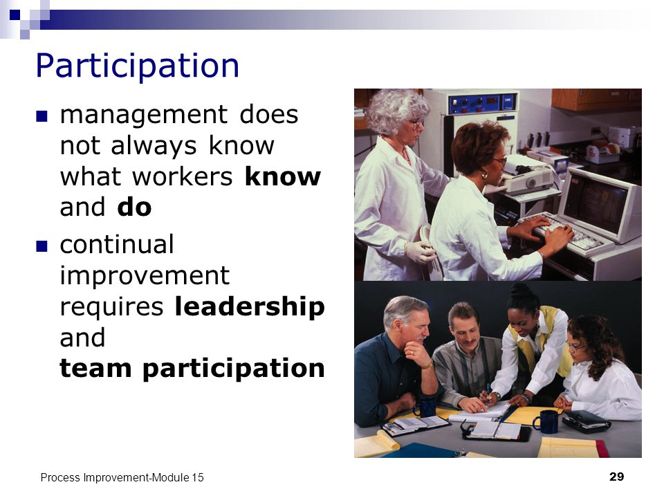 Participation management does not always know what workers know and do