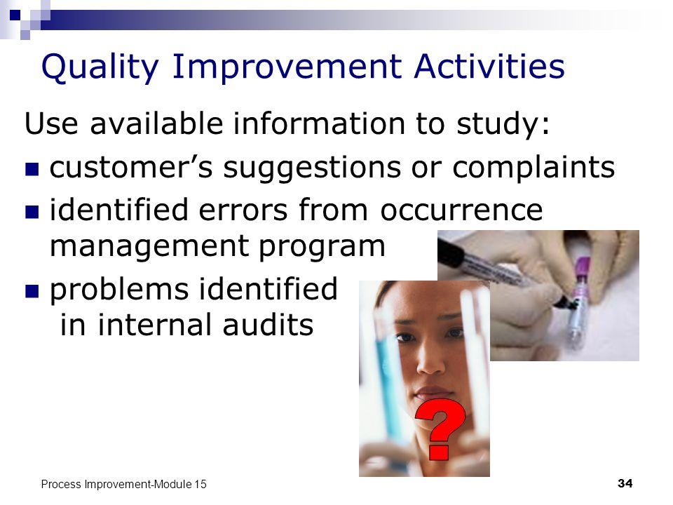 Quality Improvement Activities