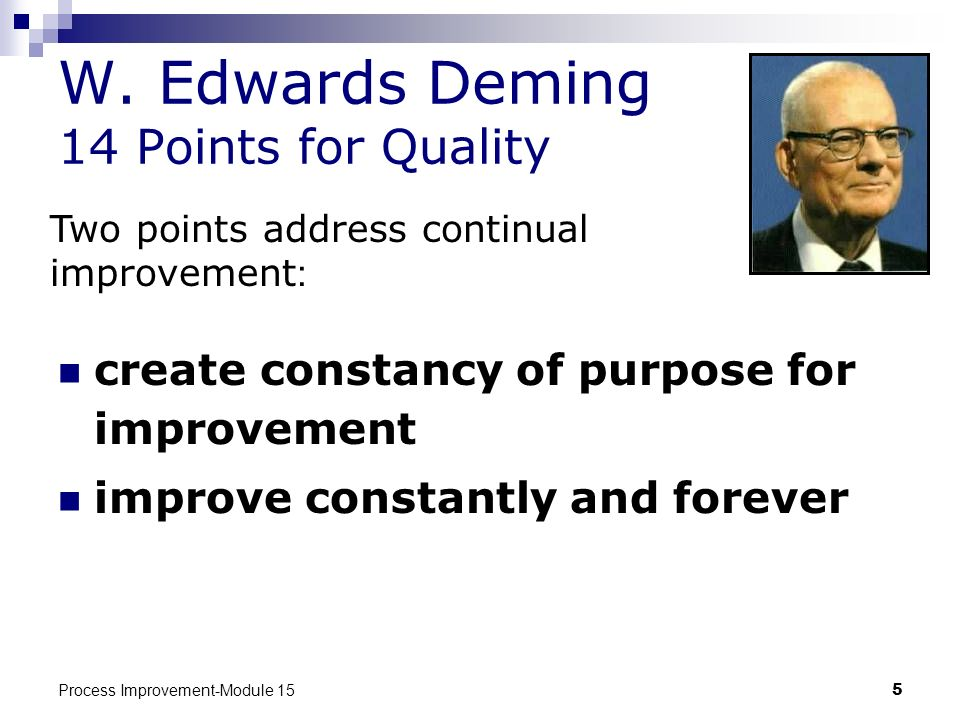 W. Edwards Deming 14 Points for Quality