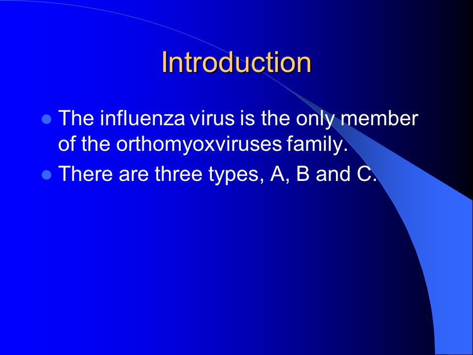 an introduction to the virus of influenza An introduction to influenzathe flu, or influenza, is caused by a highly infectious virus it spreads through the air, multiplies in cells lining.