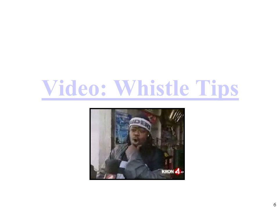 Video: Whistle Tips Smog Traffic 6