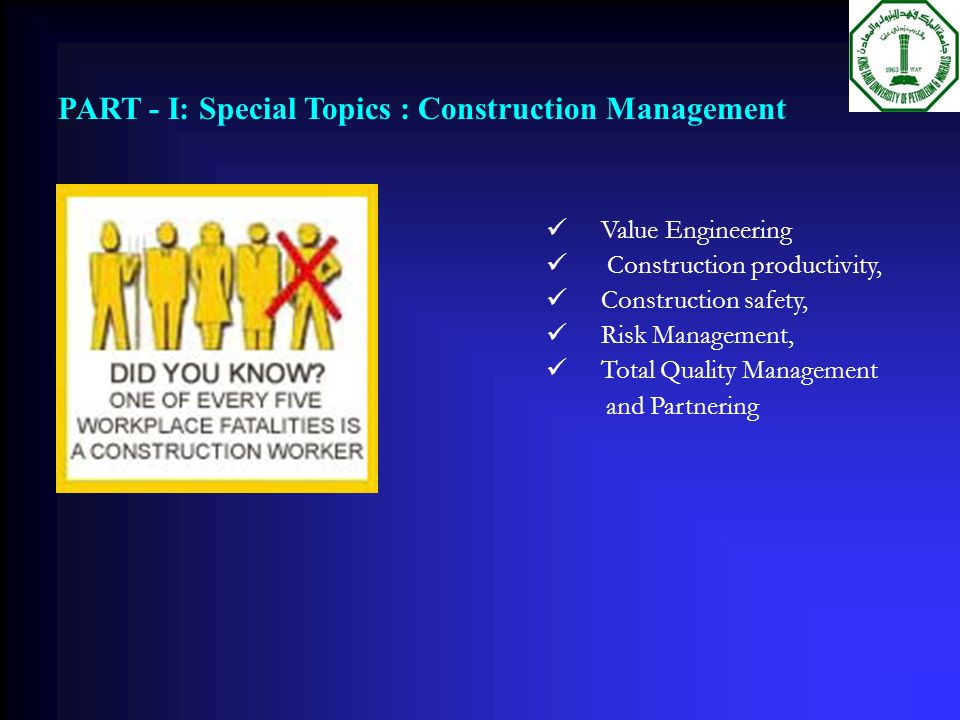 tqm in construction The official public website of the fort worth district, us army corps of engineers.