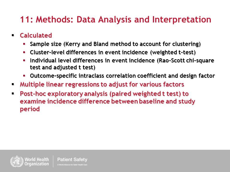 11: Methods: Data Analysis and Interpretation