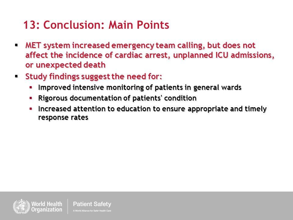 13: Conclusion: Main Points