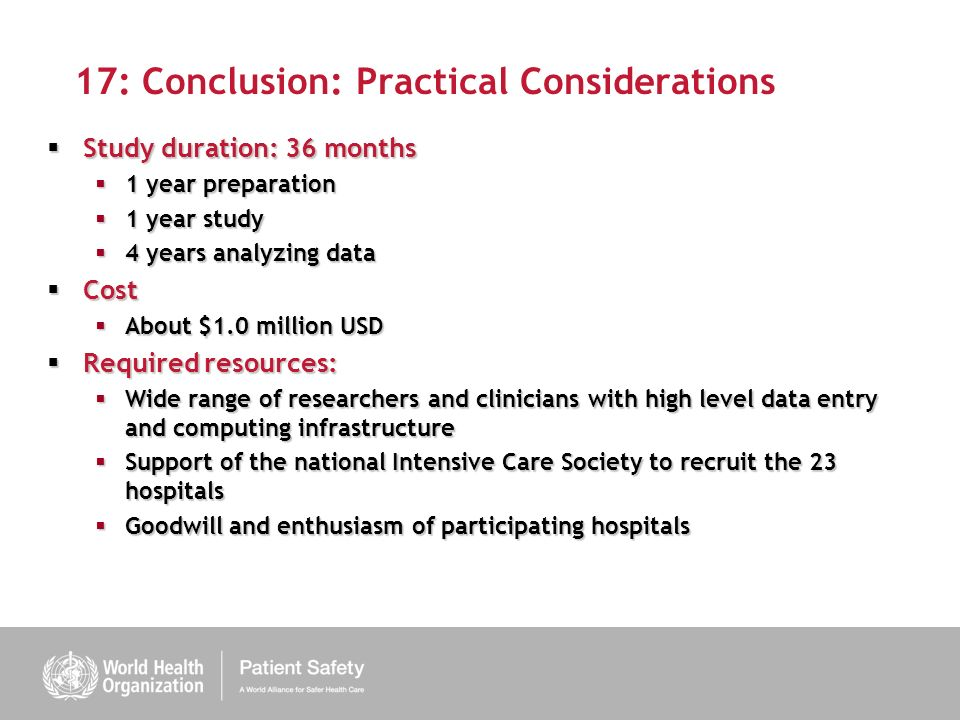 17: Conclusion: Practical Considerations