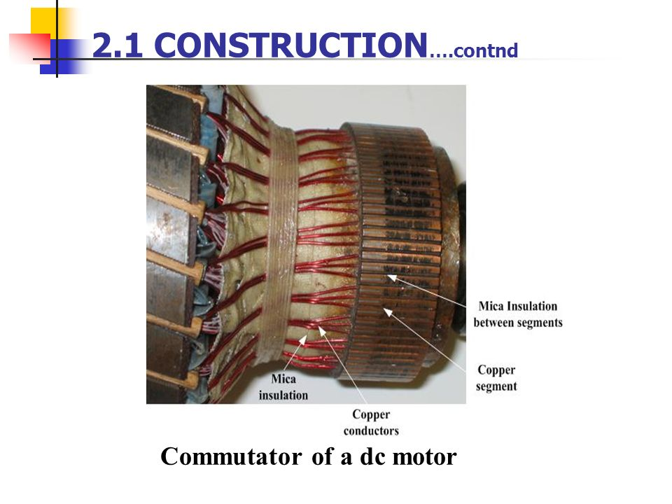Commutator of a dc motor