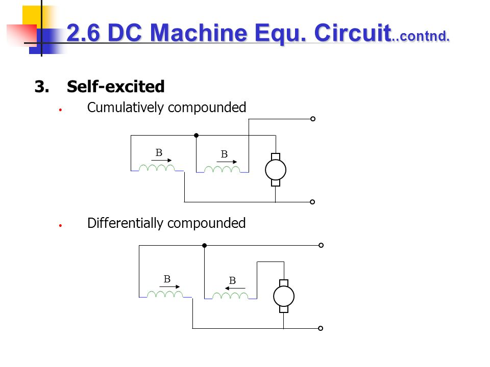 2.6 DC Machine Equ. Circuit..contnd.