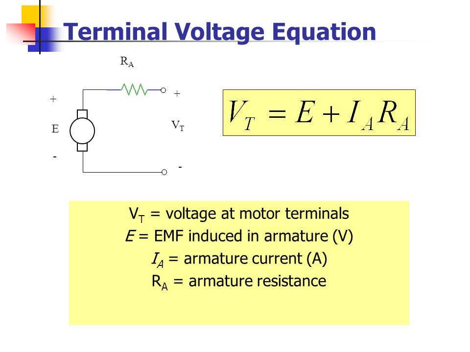 Terminal Voltage Equation
