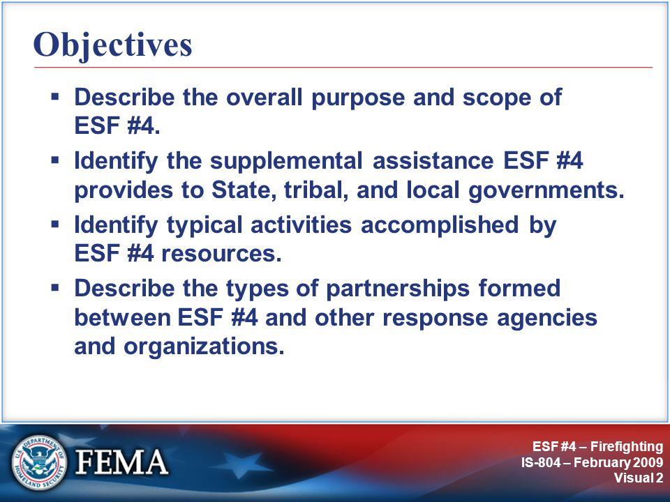 IS-804: ESF #4 – Firefighting
