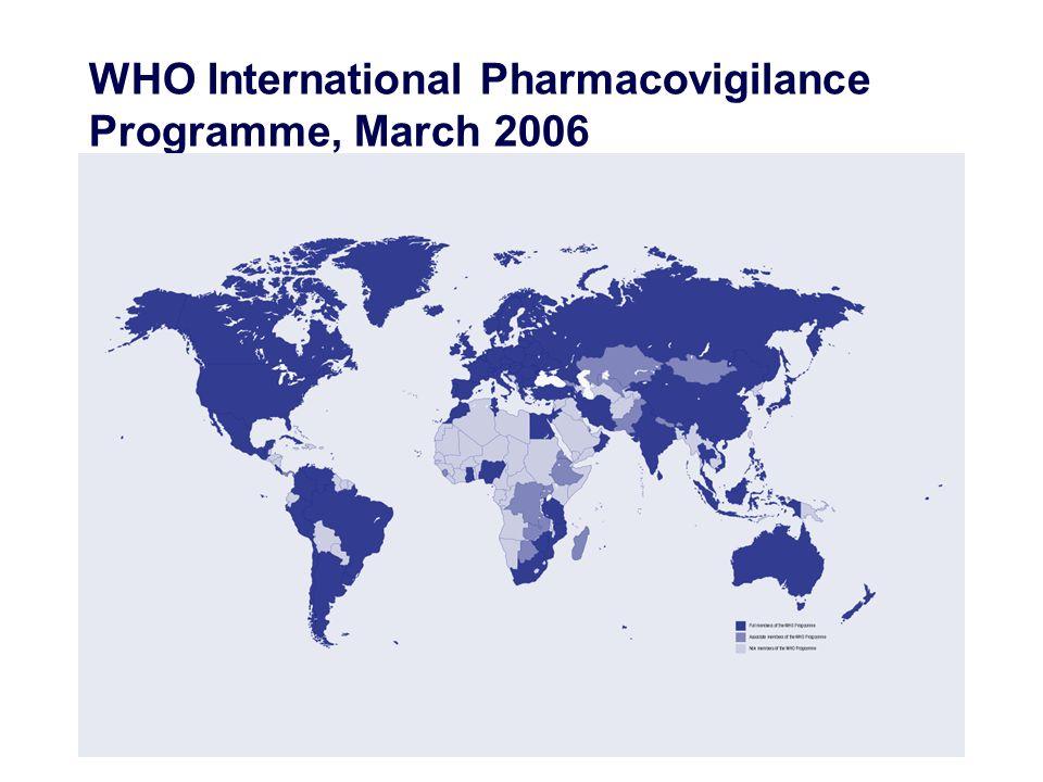 WHO International Pharmacovigilance Programme, March 2006