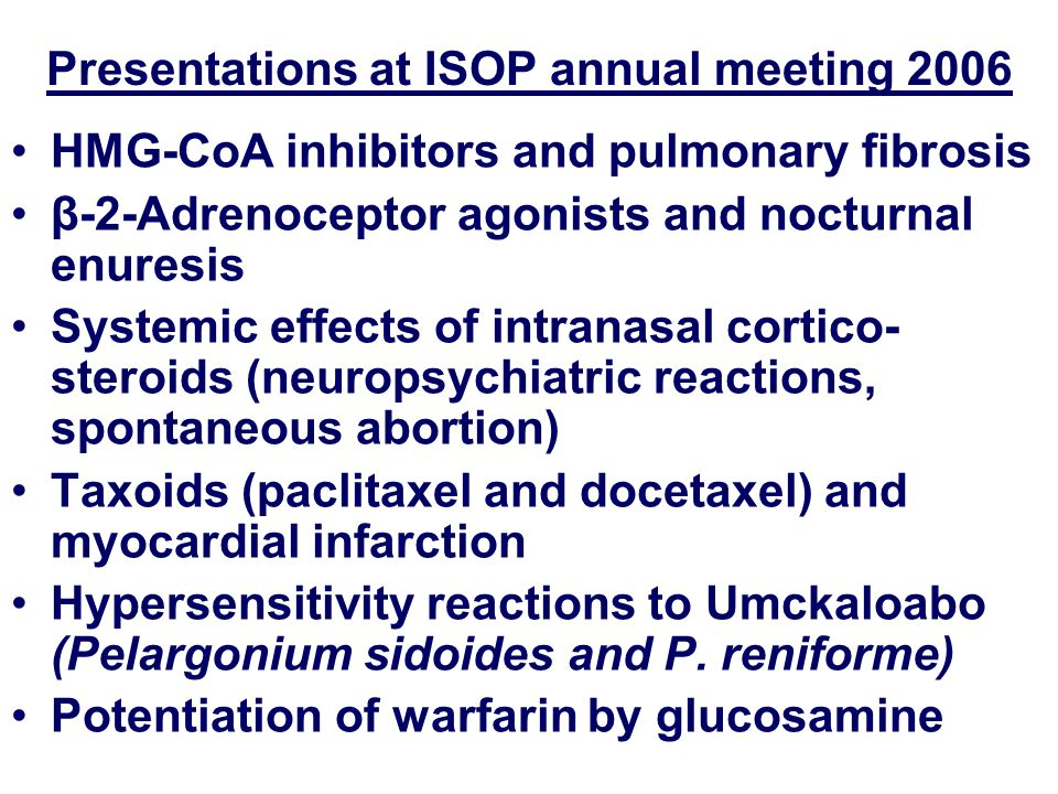 Presentations at ISOP annual meeting 2006