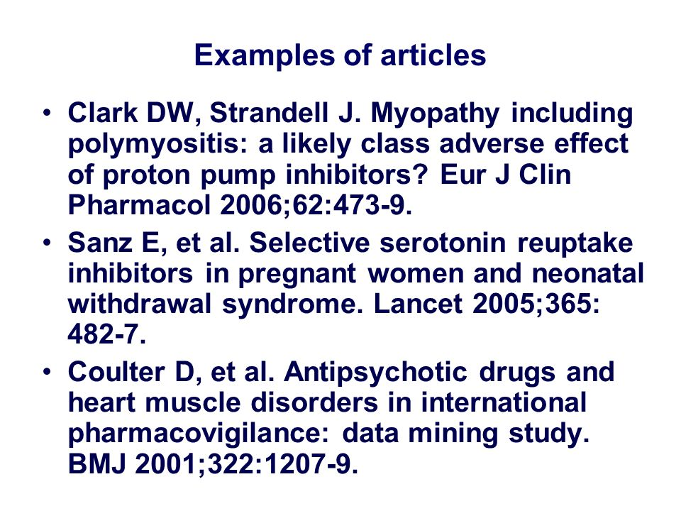 Examples of articles