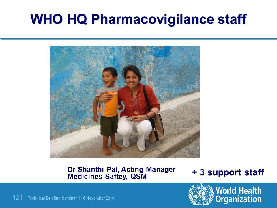 WHO HQ Pharmacovigilance staff