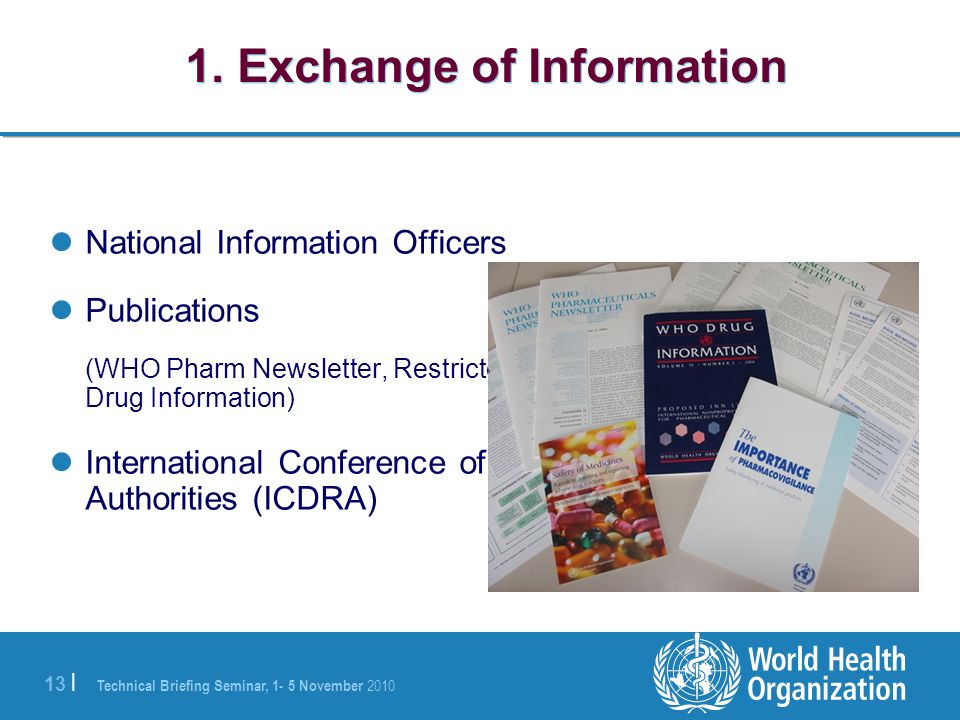 1. Exchange of Information