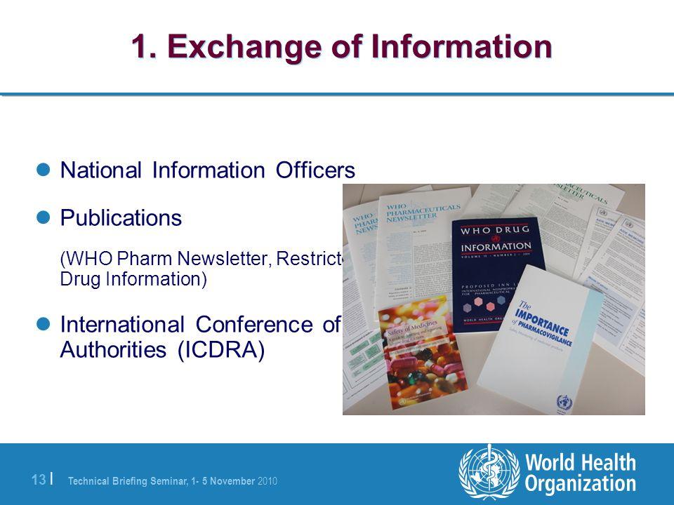 1. Exchange of Information