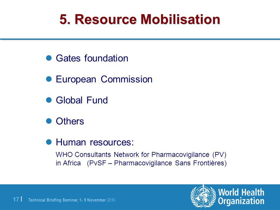 5. Resource Mobilisation