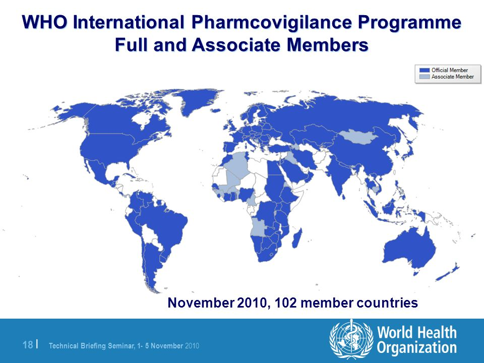 WHO International Pharmcovigilance Programme Full and Associate Members