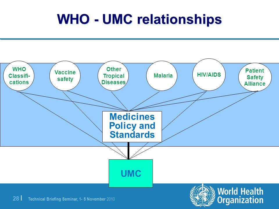 WHO - UMC relationships